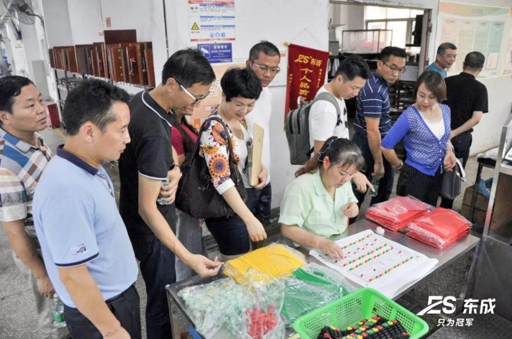 博商同学参观硅胶制品生产