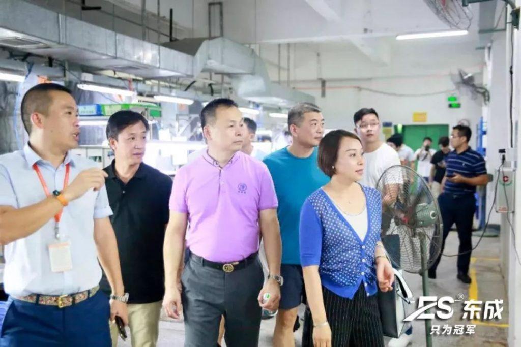 深圳博商和东莞博商访问ES东成厂房